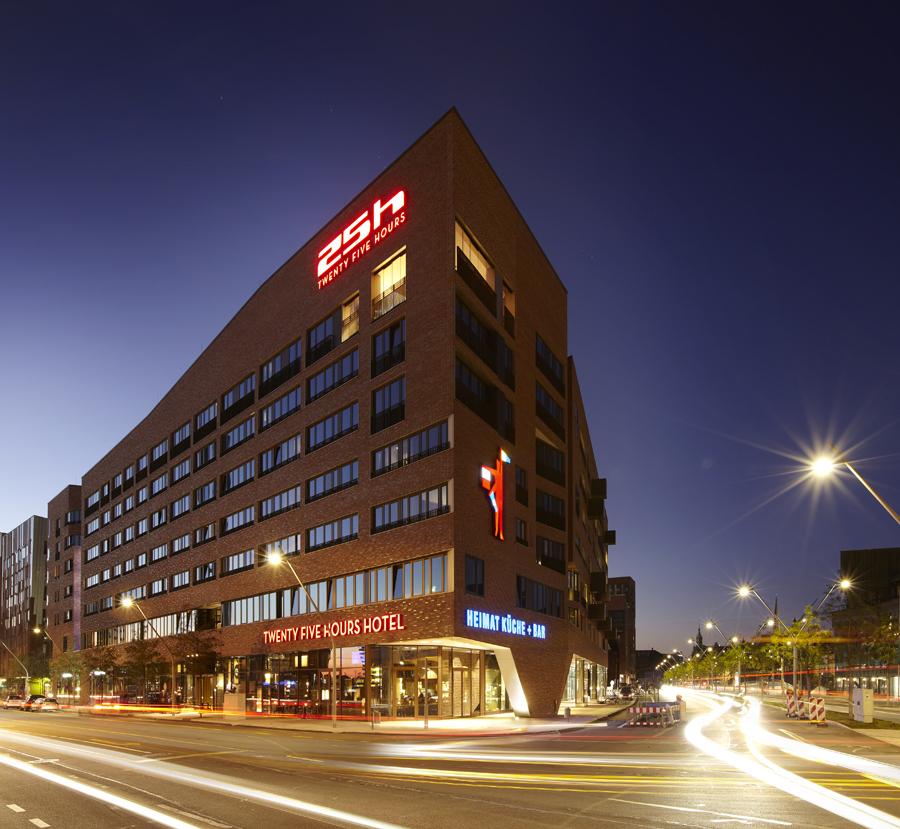 25Hour Hotel, Hamburg 25h HafenCity Aussenansicht