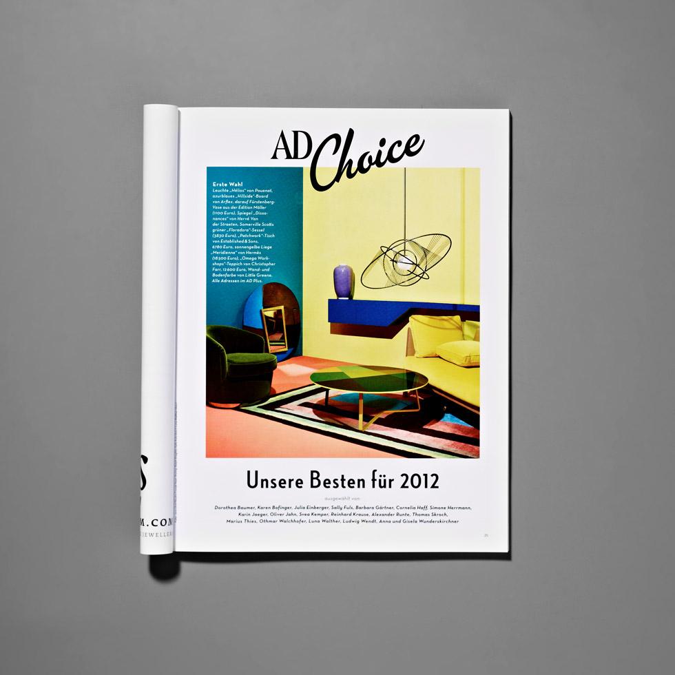 AD Choice: Die besten Möbel & Trends 2012 AD Choice 2