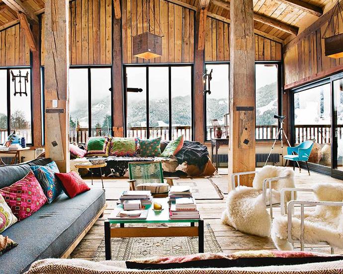 Holzhaus in den franz sischen alpen wohn designtrend for Deco slaapkamer chalet