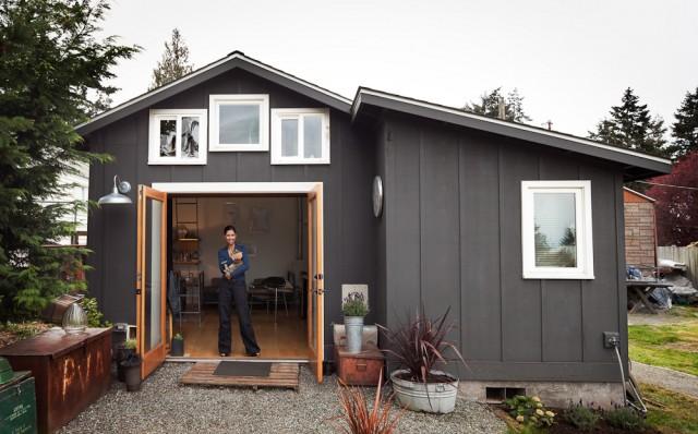 Mini Haus von Michelle de la Vega 1  Wohntrends: Ein Mini-Haus aus einer Garage Mini Haus von Michelle de la Vega 1 e1355840470140