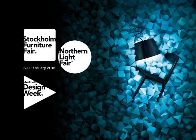 """""""Von 5. bis 9. Februar 2013 öffnet die Stockholm Furniture Fair/Northern Light Fair, die die neuesten Wohntrends der Möbelbranche und Leuchtendesign geben."""""""