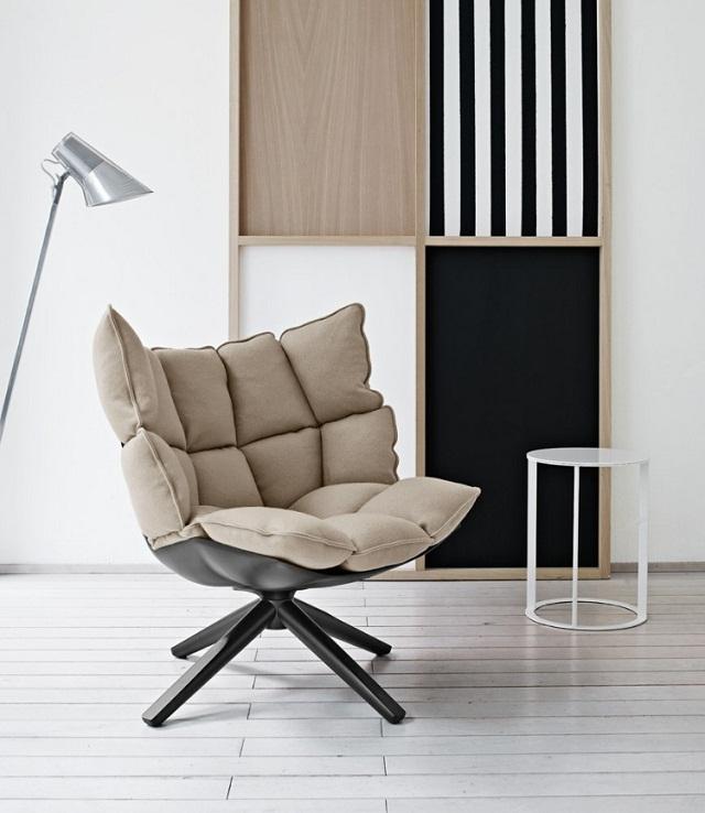 """""""Sessel: ein Möbel für eine Person und dient dem bequemen Sitzen. Machen Sie es sich bequem mit Menge Sessel von romantisch über urban bis zu klassisch sein.""""  Dekoideen fürs Wohnzimmer: gemütliche Sessel beb italia armchair husk marke wohn designtrend 02"""