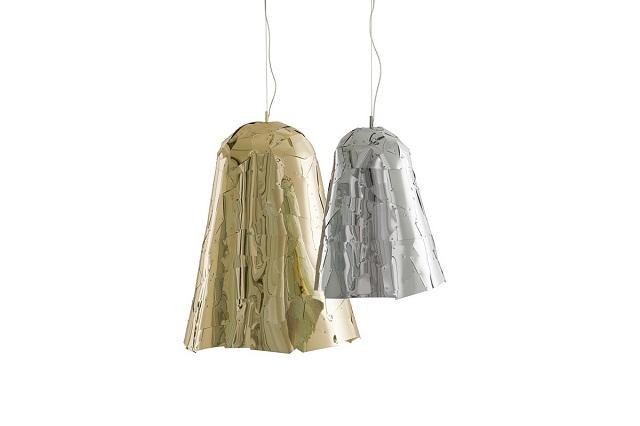 """""""Stylische und schöne Hängeleuchten, dass aus Aluminium gemacht sind. Ideale für eine moderne und vintage Dekoration.""""  Leuchtendesign: zeitgenössische Hängeleuchten aus Aluminium edra campana pendelleuchte marke Wohn DesignTrend"""