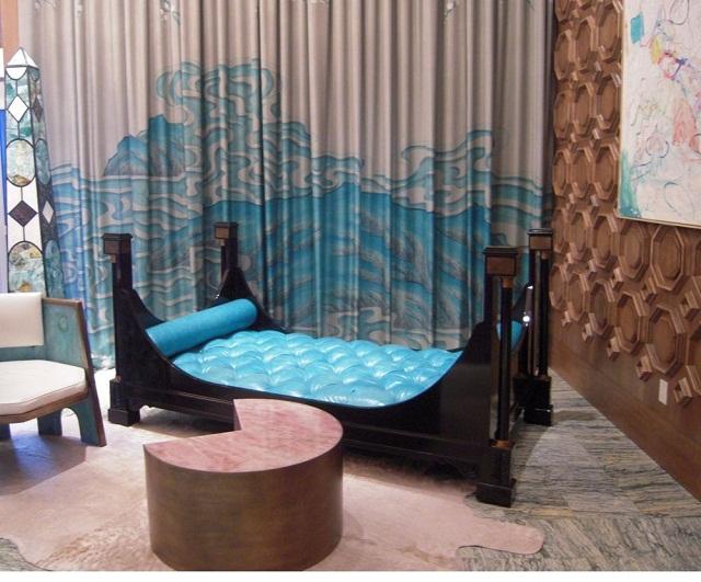 """""""Schöne Farben, ausgefallene Raumgestaltung, luxuriöse Wohnaccessoires und kreative Sitzmöbel sind einige den Merkmale dieses Holtels.""""  Hoteltrends: Viceroy Miami von Kelly Wearstler hotel viceroy miami luxus und trendige platze wohndesigntrend 08"""