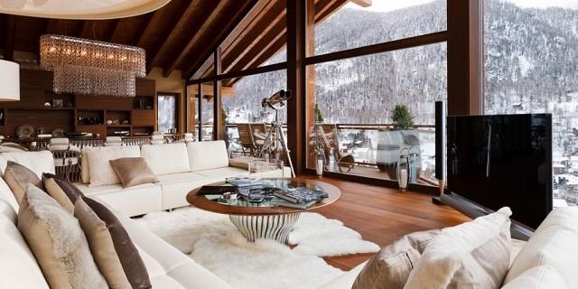 Dekoideen: luxuriöse Interieurs der Chalets in den Alpen | Wohn ...