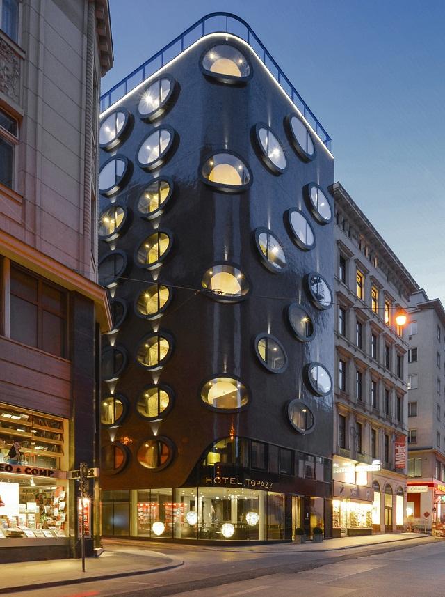 Das designhotel topazz wien von bwm architekten wohn for Trendige hotels berlin