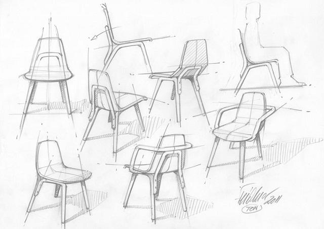 """""""Der Tram Chair entstand aus der jüngsten Kooperation mit dem etablierten Wiener Produktdesigner Prof. Thomas Feichtner.""""  Milan Design Week 2013: Thomas Feichtner und der Stuhl Tram Milan Design Week Tram Chair by Thomas Feichtner 04"""