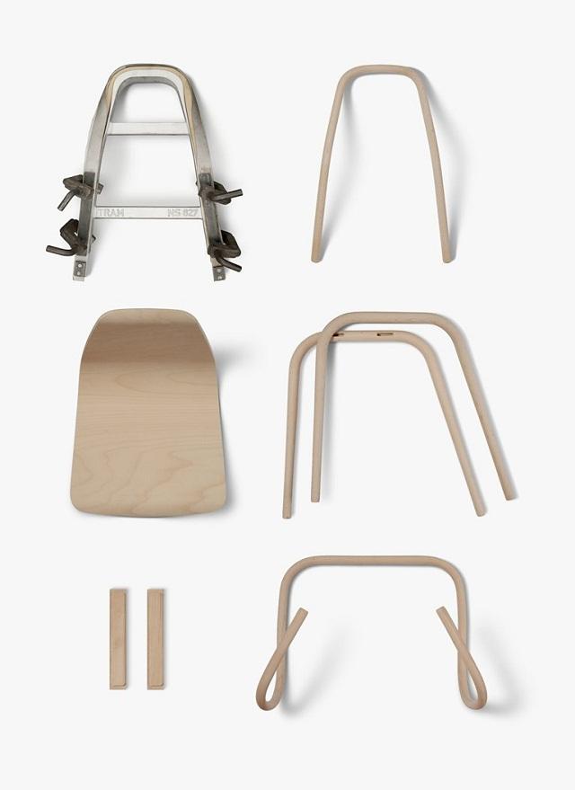 """""""Der Tram Chair entstand aus der jüngsten Kooperation mit dem etablierten Wiener Produktdesigner Prof. Thomas Feichtner.""""  Milan Design Week 2013: Thomas Feichtner und der Stuhl Tram Milan Design Week Tram Chair by Thomas Feichtner 05"""