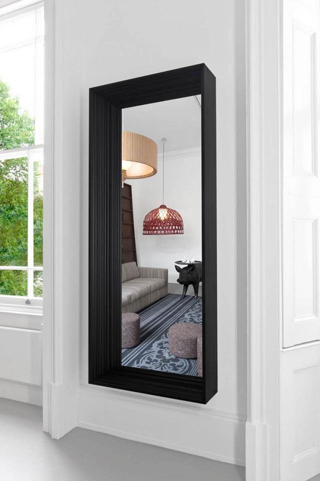 """""""Dekoideen: Moderne und dekorative Spiegel aus Holz und Glas. Es gibt verschiedene schöne Spiegel in verschiedenen geometrischen Formen und Größen.""""  Dekoideen: Moderne und dekorative Spiegel frame mirror marcel wanders for moooi marken wohn designtrend"""