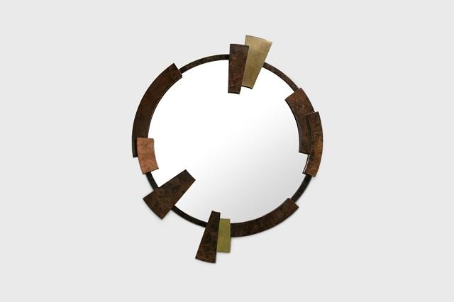 """""""Dekoideen: Moderne und dekorative Spiegel aus Holz und Glas. Es gibt verschiedene schöne Spiegel in verschiedenen geometrischen Formen und Größen.""""  Dekoideen: Moderne und dekorative Spiegel kamoos mirror brabbu marken wohn designtrend1"""