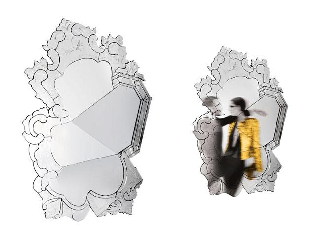 """""""Dekoideen: Moderne und dekorative Spiegel aus Holz und Glas. Es gibt verschiedene schöne Spiegel in verschiedenen geometrischen Formen und Größen.""""  Dekoideen: Moderne und dekorative Spiegel venice venetian mirror boca do lobo marken wohn designtrend"""