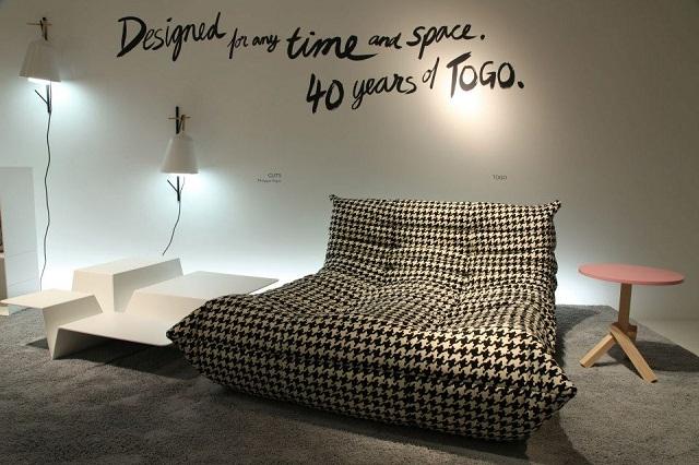 40 jahre togo das sofa von ligne roset feiert geburtstag wohn designtrend. Black Bedroom Furniture Sets. Home Design Ideas