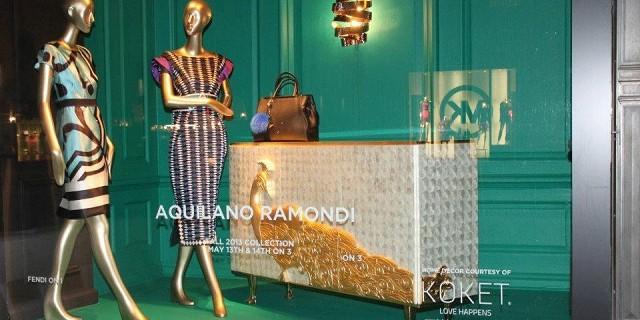 """""""KOKET ist jetzt an der Fenster von Saks an der Fifth Avenue in Manhattan, New York City. KOKET ist weltbekannt für einen höchst begehrenswerte Sammlung."""""""