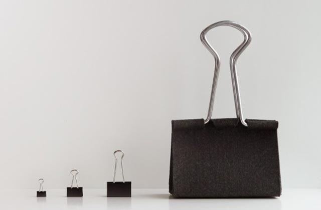 """""""Die Clip Bag von Peter Bristol aus Seattle ist ein Ausnahmefall. Es kommt selten vor, dass eine Form ohne Übersetzung neu benutzt werden kann.""""  Mode & Lifestyle: Handtasche im Clip-Format Wohn DesignTrend ModeLifestyle Handtasche im Clip Format 02"""