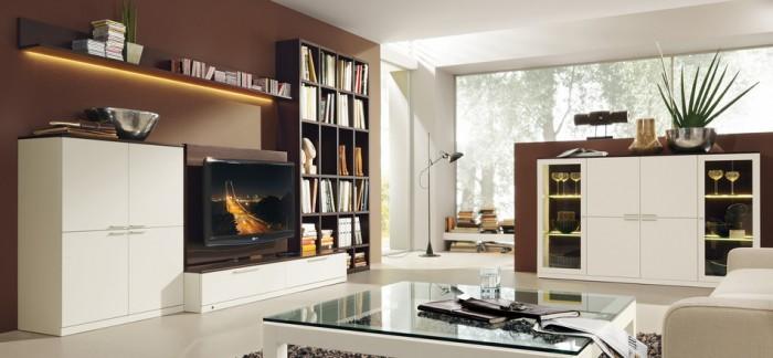 Modernes wohnzimmer braun  10 moderne stilvolle Dekoideen zum Wohnzimmer | Wohn-DesignTrend