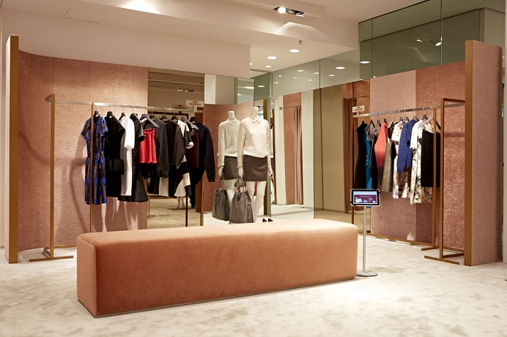 High end clothing store