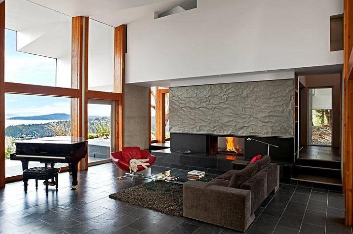 Wohndesign  Wohndesign: Glasbau mit gefaltetem Dach | Wohn-DesignTrend