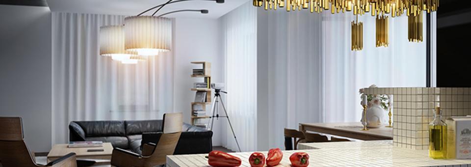 """""""Mitten in Kiew, Ukraine, haben die Architekten von Leks Visuals, ein wunderschönes, exquisites und einmaliges Apartment geschaffen."""