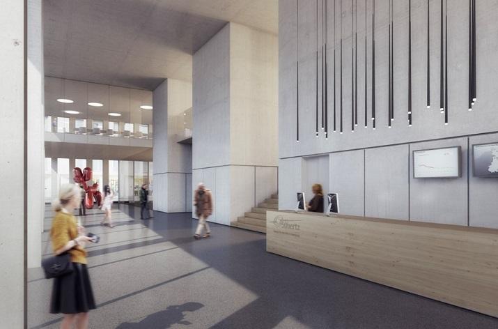 """""""Entworfen von der Architektengruppe LOVE, das Hauptziel bei dem Antrag auf den Sieg für das 50Hertz Headquartes in Berlin war ein innovatives und transparentes.""""  50Hertz Headquarters in Berlin 143"""