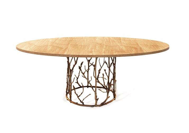 """""""Grosse Esstische für moderne Esszimmer. Ein Tisch aus pulverbeschichtetem Aluminium hat eine Tischplatte aus recyceltem Teakholz.""""  Grosse Esstische für moderne Esszimmer Wohn DesignTrend Esstiche f  r Esszimmer KOKET"""