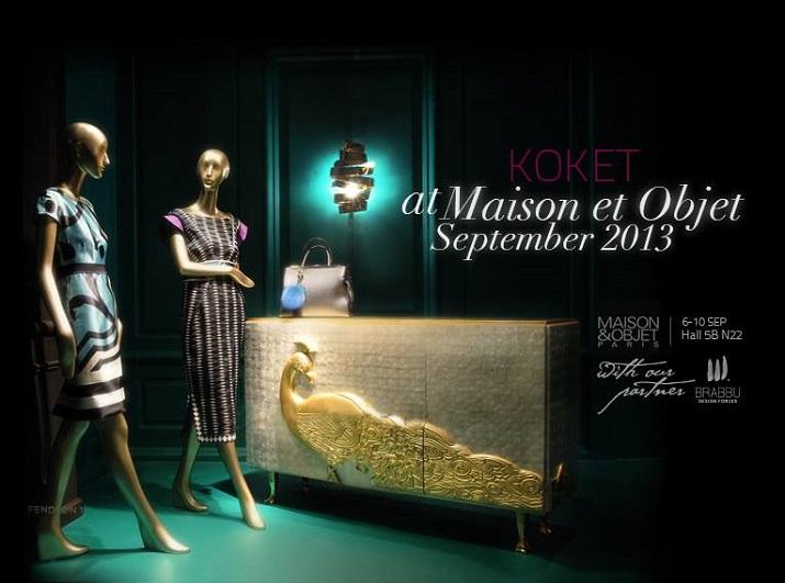 """September Ausgabe – Beste Design Messen 2013""  September Ausgabe – Beste Design Messen 2013 MaisonObjet September 2013 KOKET"
