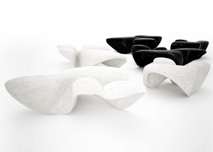 """""""Dekorieren Sie Ihr Wohnzimmer und schaffen Sie eine einzigartige Atmosphäre durch Hinzufügen eines hervorragenden Marmor-Couchtisches.""""  Moderne und Trendy Möbel: Marmorcouchtische Moderne und Trendy M  bel Marmorcouchtische Zaha Hadid"""