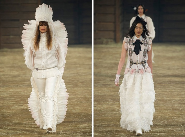 """""""Jedes Jahr richtet Karl Lagerfeld Chanels Métiers D'Art-Kollektion, die gleichzeitig die Pre-Fall-Kollektion des Hauses ist, für Coco Chanel.""""  Pre-Fall 2014: Chanel zeigt """"Métiers d'Art""""-Show in Dallas Pre Fall 2014 Chanel zeigt M  tiers dArt Show in Dallas 01"""