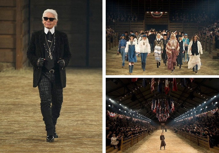 """""""Jedes Jahr richtet Karl Lagerfeld Chanels Métiers D'Art-Kollektion, die gleichzeitig die Pre-Fall-Kollektion des Hauses ist, für Coco Chanel.""""  Pre-Fall 2014: Chanel zeigt """"Métiers d'Art""""-Show in Dallas Pre Fall 2014 Chanel zeigt M  tiers dArt Show in Dallas 08"""