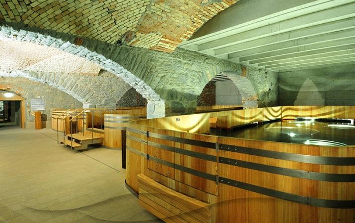 """""""Die Hürlimann Brauerei in Zürich, baute 1836, ist in ein Hotel und thermischen Spa mit erhitztem Wasser von einem nahe gelegenen Frühling umgestaltet worden.""""  Renovierung der Hürlimann Brauerei in thermisches Bad & Spa Renovierung der H  rlimann Brauerei in thermisches Bad Spa 03"""