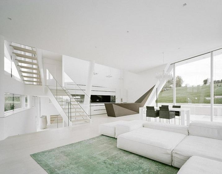 """""""Projekt A01 Architekten haben die Villa für eine Familie Freundorf bei Wien, Österreich konzipiert.""""  Villa Freundorf von Project A01 Architekten Villa Freundorf von Project A01 Architekten 06"""