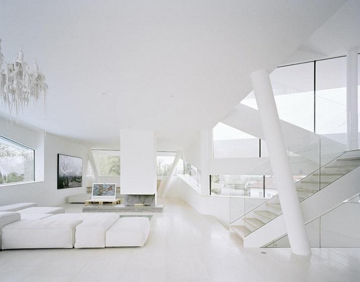 """""""Projekt A01 Architekten haben die Villa für eine Familie Freundorf bei Wien, Österreich konzipiert.""""  Villa Freundorf von Project A01 Architekten Villa Freundorf von Project A01 Architekten 07"""