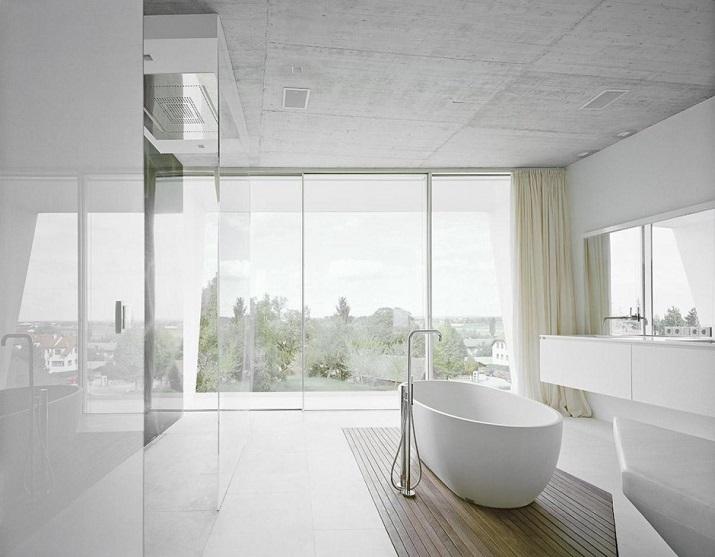 """""""Projekt A01 Architekten haben die Villa für eine Familie Freundorf bei Wien, Österreich konzipiert.""""  Villa Freundorf von Project A01 Architekten Villa Freundorf von Project A01 Architekten 08"""