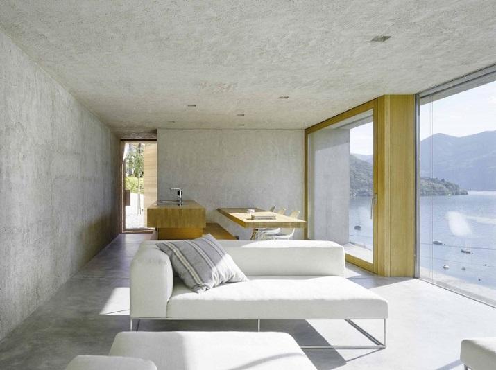 """""""Dieses elegante Haus, in Ranzo, die Schweiz, wird von Wespi de Meuron entworfen.""""  Betonhaus in Ranzo bei Wespi de Meuron Betonhaus in Ranzo bei Wespi de Meuron 03"""