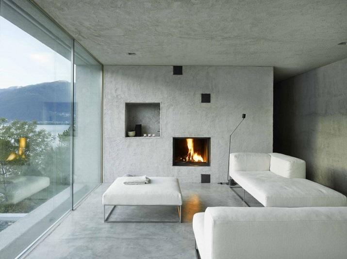 """""""Dieses elegante Haus, in Ranzo, die Schweiz, wird von Wespi de Meuron entworfen.""""  Betonhaus in Ranzo bei Wespi de Meuron Betonhaus in Ranzo bei Wespi de Meuron 04"""