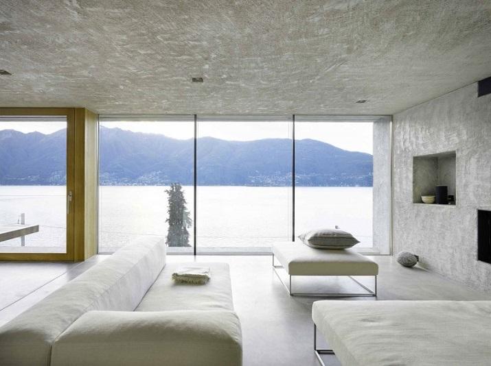 """""""Dieses elegante Haus, in Ranzo, die Schweiz, wird von Wespi de Meuron entworfen.""""  Betonhaus in Ranzo bei Wespi de Meuron Betonhaus in Ranzo bei Wespi de Meuron 05"""