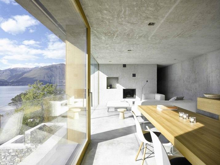 """""""Dieses elegante Haus, in Ranzo, die Schweiz, wird von Wespi de Meuron entworfen.""""  Betonhaus in Ranzo bei Wespi de Meuron Betonhaus in Ranzo bei Wespi de Meuron 06"""