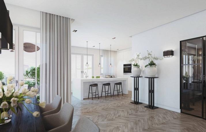 """""""Penthouse in Berlin ist eine Betäubenvergegenwärtigung geschaffen beiAndo Studio für ein Projekt, in Berlin, Deutschland begriffen zu werden.""""  Penthouse in Berlin von Ando Studio Penthouse in Berlin von Ando Studio 06"""