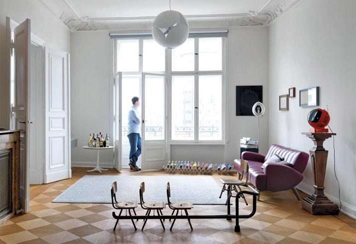 """""""Aus einer abgewohnten Berliner Altbauetage machte der Architekt Thomas Kröger ein großzügiges Ambiente für einen Musikmanager und eine Trapezkünstlerin.""""  Stilvoll Design und Ambiente von Architekt Thomas Kröger Stilvoll Design und Ambiente von Architekt Thomas Kr  ger 02"""