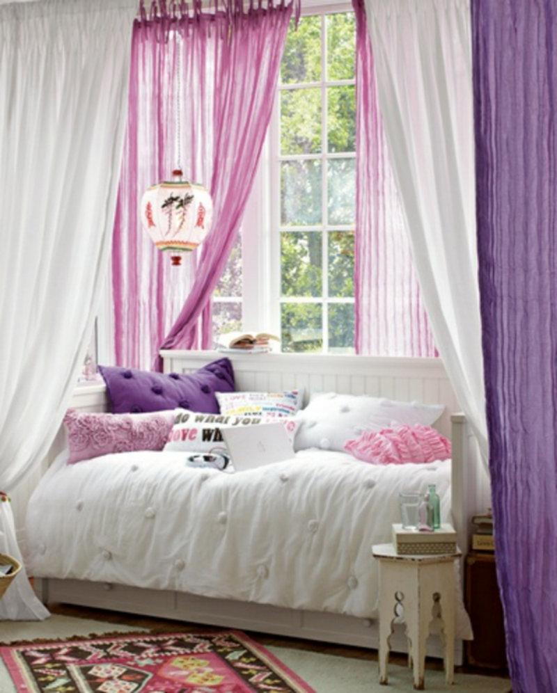 Gardinenideen-vorhänge-fenster-modern-designer-lila-rosa-wohndesign-trend  Moderne und praktische Fenstergestaltung Gardinenideen vorh  nge fenster modern designer lila rosa wohndesign trend