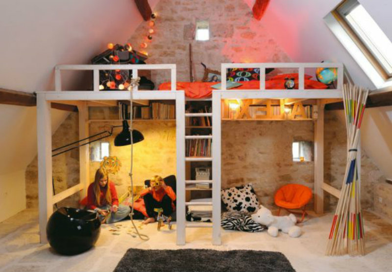 Originelles-Bett-Design-wohn-design-Ideen  Interessante Kinderschlafzimmer Originelles Bett Design wohn design Ideen