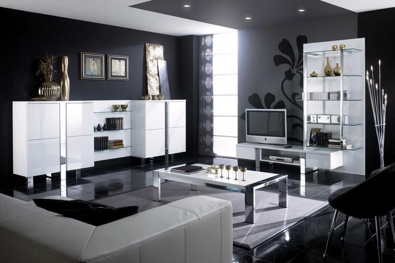 Wohnzimmer Modern Schwarz Weiß | mxpweb.com
