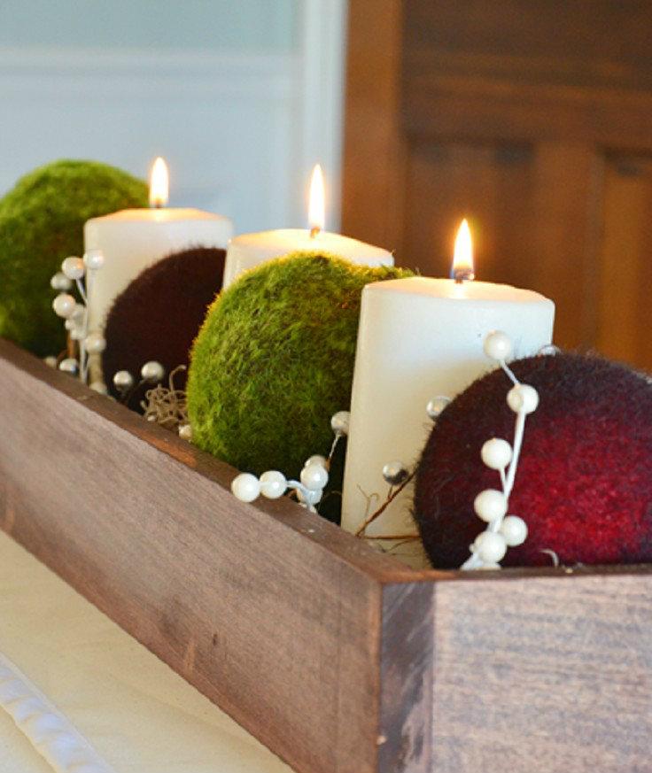 Weinachtsdekoration-Tipp: Kerzen und Zapfen  Weihnachtsdeko-Tipp: Kerzen und Zapfen diy festive christmas centerpieces 031
