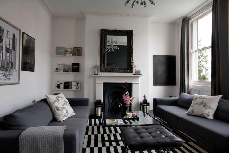Wohnzimmer Schwarz Weiss Holz ~ Alle Ideen für Ihr Haus Design und Möbel