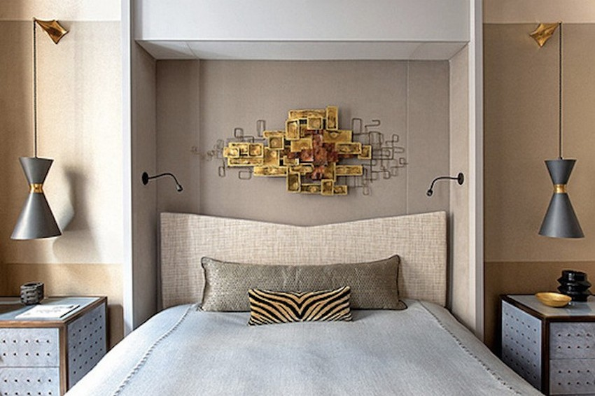 3-Jean-Louis-Deniot-contemporary-bedroom-using-mid-century-modern-lighting-in-black-and-golden  Projekte von Jean-Louis Deniot 3 Jean Louis Deniot contemporary bedroom using mid century modern lighting in black and golden