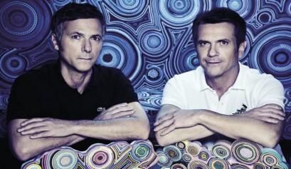 Victorio Alpi und Humberto Campana präsentieren die neuen Produkte für Alpi
