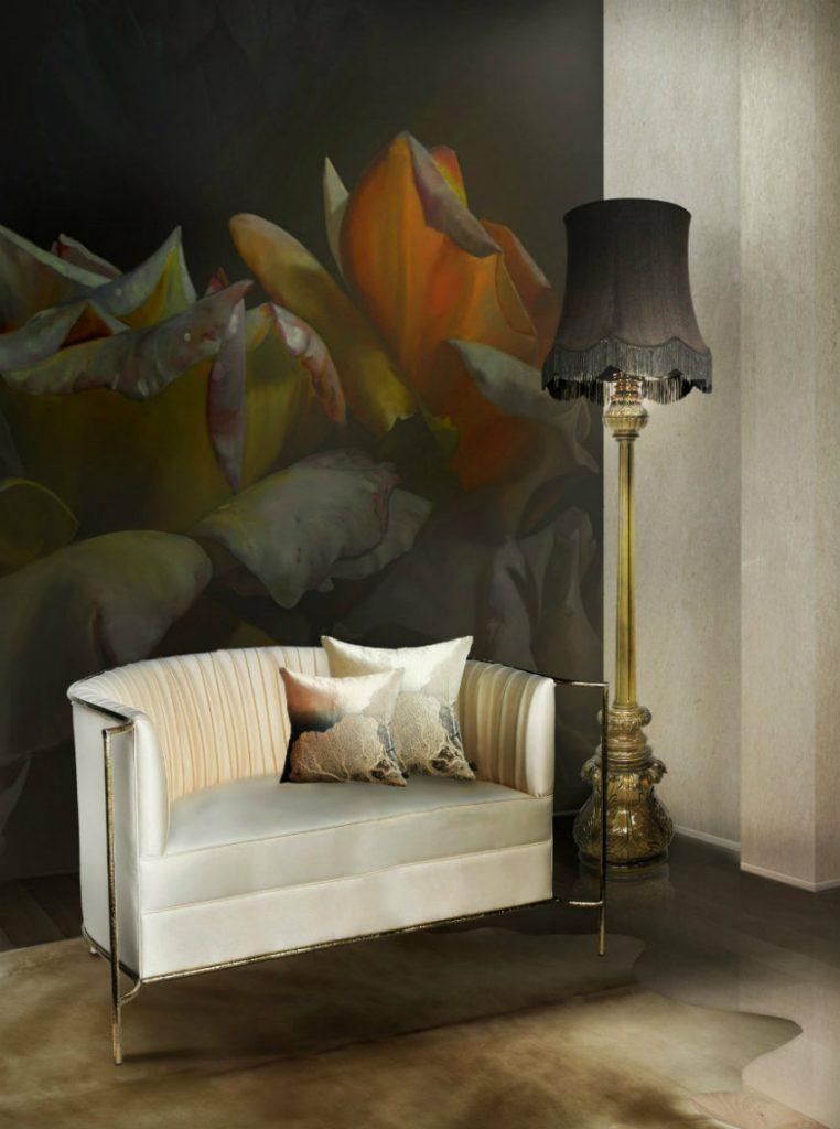 Wie man einen weißen Sofa dekoriert weißen sofa Wie man einen weißen Sofa dekoriert desire sofa lotus floor lamp by koket projects