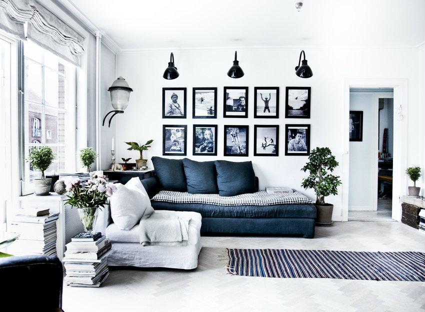Navy And White Living Room Decor: Marine-Blau Inspirationen Für Den Frühling