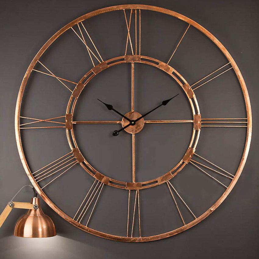 Handmade-Large-Brass-Wall-Clock-Metal-Wall-Hanging Uhren Einzigartige Uhren für Ihr Wohnzimmer Handmade Large Brass Wall Clock Metal Wall Hanging
