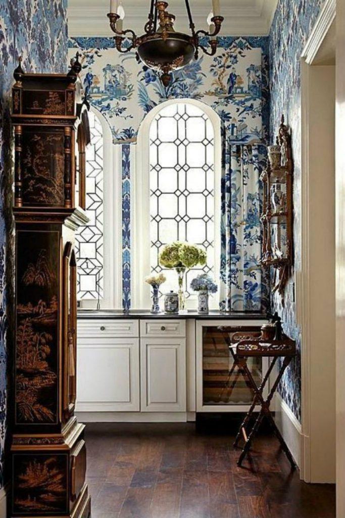 papier-peint-de-couloir-déco-antique-despace Uhren Einzigartige Uhren für Ihr Wohnzimmer papier peint de couloir d  co antique despace