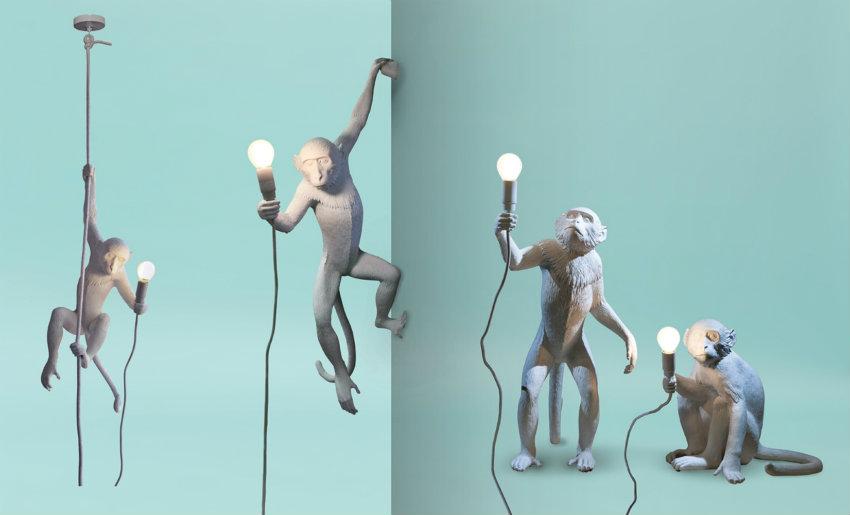 Monkey_Lamp_Seletti1 maison et objet Verrückte Dinge, die wir in Maison et Objet gefunden haben Monkey Lamp Seletti1